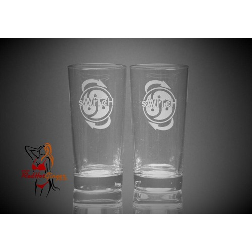 BDSM Hi Ball Glasses Large x2 - Dominant Submissive Switch