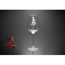 BDSM Wine Glass - Bondage Tied Lady In Chair