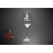 BDSM Wine Glass - Bondage Tied Lady Kneeling