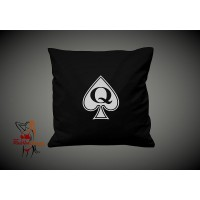 Cushion Cover - Queen Of Spades