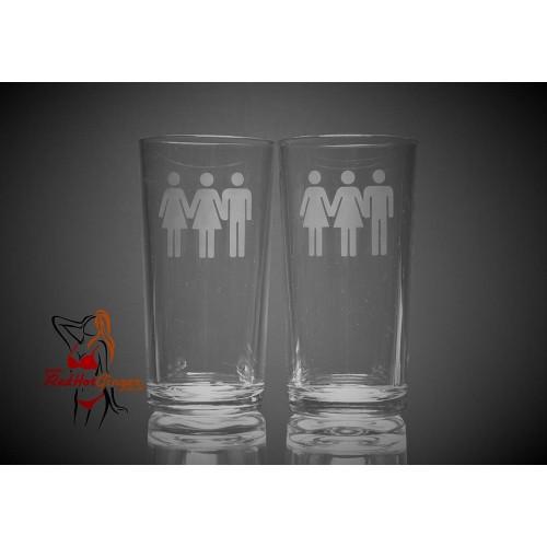 Hi Ball Glasses x2 - Bi Female Bi Female Male People
