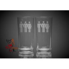 Hi Ball Glasses x2 - Bi Male Bi Male Female People
