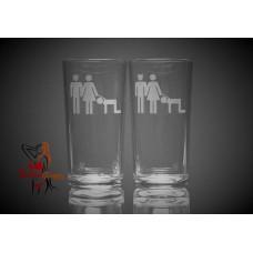 Hi Ball Glasses x2 - Cuckold People