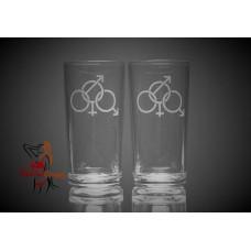 Hi Ball Glasses x2 - Cuckold Symbol