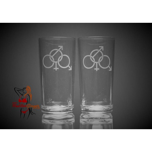 Hi Ball Glasses x2 - Cuckold Symbol