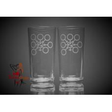Hi Ball Glasses x2 - Gangbang Symbol