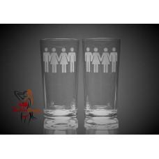 Hi Ball Glasses x2 - Swinger People