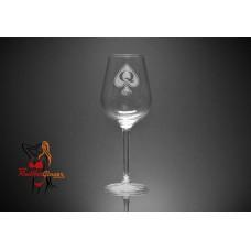 Wine Glass - Queen Of Spades