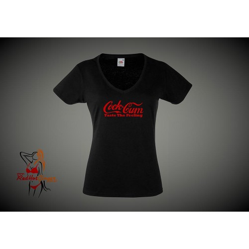 Lady Fit T-Shirt - Cock And Cum