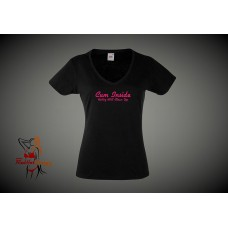 Lady Fit T-Shirt - Cum Inside Hubby Will Clean Up