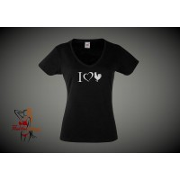 Lady Fit T-Shirt - I Love Cock