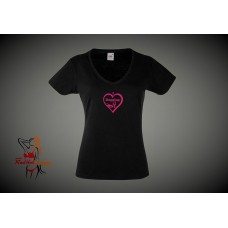 Lady Fit T-Shirt - I Love Dogging