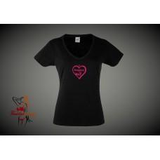 Lady Fit T-Shirt - I Love Dogging