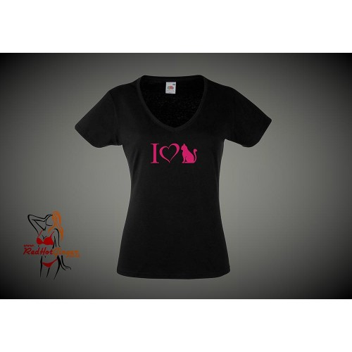 Lady Fit T-Shirt - I Love Pussy