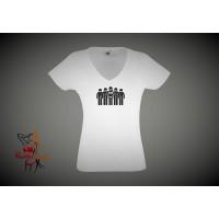 Lady Fit T-Shirt - Greedy Girl Gangbang